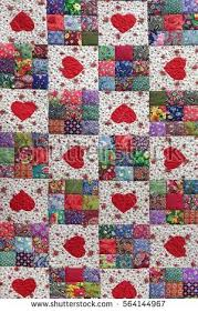 Quilt Stock Images, Royalty-Free Images & Vectors   Shutterstock & Handmade Patchwork Quilt Floral Summer Pattern Background With Hearts.  Vintage Scrappy Geometric Quilting Texture. Adamdwight.com