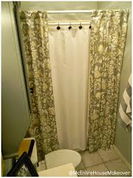 Astonishing Double Shower Curtain Matters Intended For Two Panel Pic