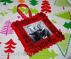 Homemade Christmas Ornaments Puzzle Piece Frame  Buggy And BuddyChristmas Picture Frame Craft Ideas