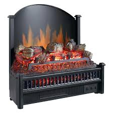 pleasant hearth electric fireplace logs with led glowing ember bed and cast iron fireback black hayneedle
