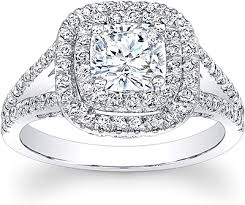 double halo split shank diamond engagement ring scs1244
