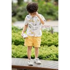 Set bộ sơ mi hoạt tiết đẹp cho bé trai, đồ bộ đi chơi cho bé giá cạnh tranh