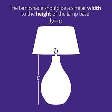 how to measure lamp shades keeping everything in proportion is vital so your lamp dwarfed by