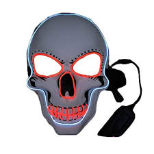 Dress Up kungfu Mall <b>Halloween</b> LED Light Up Mask and <b>Skull</b> ...