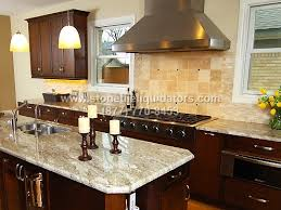 blanco taupe polished granite kitchen countertop