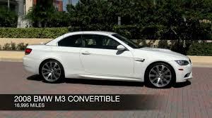 2008 BMW M3 Alpine White Convertible  YouTube