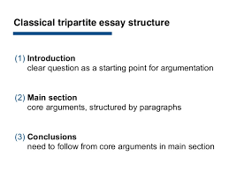 how to essay classical tripartite