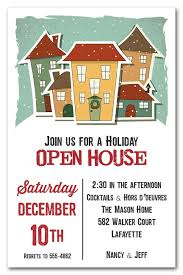 Christmas Open House Invitation Home For The Holidays Christmas Party Invitations