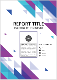 Simple Clean Cover Page Template For Word