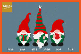 Find images of christmas ornaments. Christmas Gnomes Clipart Svg Hygge Gnomes In Santa Costumes 951597 Illustrations Design Bundles