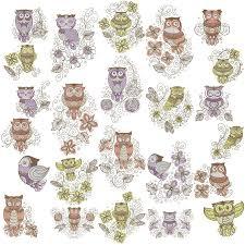 Gothic Machine Embroidery Designs Retro Owl Swirls Designs Machine Embroidery Designs By Sew
