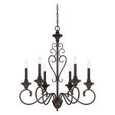 designers fountain helena 84886 6 light chandelier burnt umber com