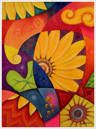 30 creative abstract flower paintings