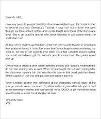 Letter Of Recommendation Elementary Teacher Teacher Letter