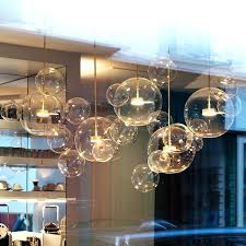 chandelier lamp shades glass clear glass ball living room chandeliers art bubble lamp shades chandelier modern