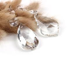 antique vintage chandelier crystals glass beads prisms replacement parts 12 pcs