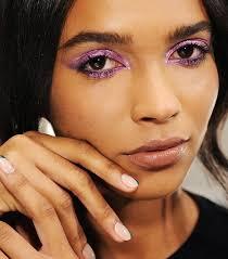 purple eye shadow 80s makeup trends