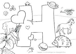 Alphabet Coloring Pages For Preschool Sheets Letter A Printable Pdf