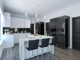 kitchen modern. Half White Black Modern Kitchen