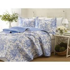 amazing laura ashley 3 piece bedford blue reversible quilt set on ashley bedding sets plan