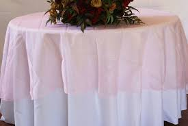 90 seamless round organza table overlay pink 55005 1pc pk