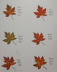 Fall Leaf Color Chart Copic Marker Recipes For Coloring Fall Leaves Copic Copic