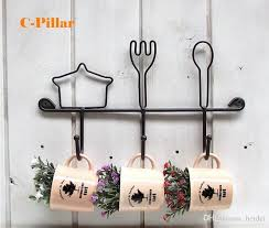2018 in stocked metal wall decor knife fork hook for cup tableware iron storage holder rack rails for kitchen from beidei 30 4 dhgate com