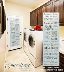 laundry room door sandblast frosted glass laundry rules eclectic laundry room
