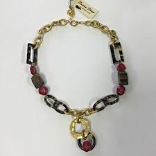 gold tortoise red susan shaw designs necklace