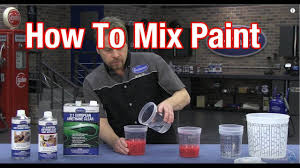 Anzahl Urethane Paint Color Chart How To Mix Car Paint Understanding Paint Mixing Ratios With Kevin Tetz At Eastwood