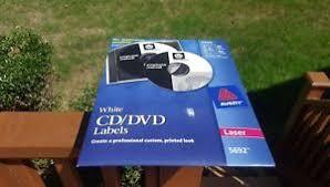 Avery 5692 White Laser Printer Cd Dvd Labels 40 Disc 80 Spine