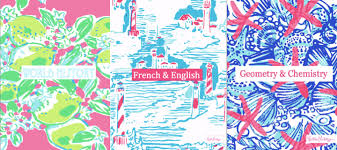 Preppy By The Sea Lilly Pulitzer Binder Covers