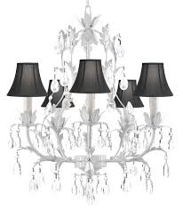 white wrought iron chandeliers