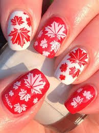 Canada Day Gel Nail Designs Canada Day Nails Nail Art Nails Nail Art Designs