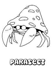 Parasect Pokemon Coloring Page More Bug