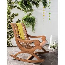 sonora teak brown outdoor patio rocking chair