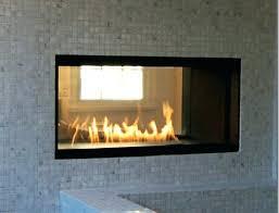 through wall fireplace under tv