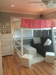 Loft Beds For Small Bedrooms Full Sized Loft Bed With Seating Area Twin Teen Girls Room