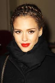 jessica alba hairstyle with braids