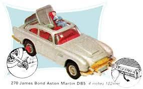 James Bond Aston Martin Db5 Gold Corgi Toys 270 The Brighton Toy And Model Index
