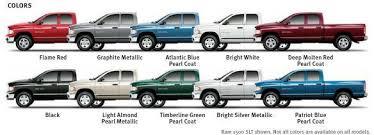 Dodge Ram Color Chart Ram Trucks Dodge Trucks Dodge