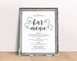Bar Menu Bar Menu Template Bar Menu Printable Bar Menu