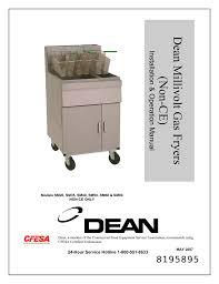 frymaster dean sm35 user s manual manualzz com frymaster dean sm35 user s manual dean millivolt gas fryers