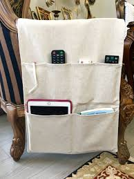 linen remote control holder upholstery linen fabric remote control caddy fabric couch organizer