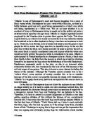 critical analysis of act scene othello gcse english how does shakespeare present the theme of the outsider in othello tm act 1