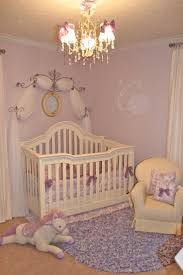 Design Dazzle: European Toile And Lavender Baby Nursery ~ I love the wall.