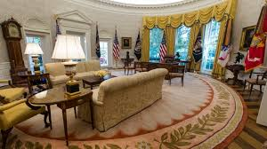 oval office white house. Exellent Office Donald Trumpu0027s Newly Renovated Oval Office With White House The Atlantic