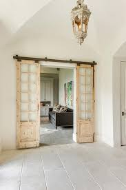 home office doors. Home Office With Distressed Sliding Doors On Rails E
