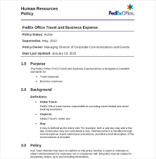 Examples Of Business Expenses 7 Travel Expense Policy Examples In Pdf