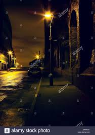 spooky lighting. Spooky Scene. Derelict Night Time. Quiet Street. Street Lights. Peaceful. Daunting. Urban Scene Lighting P